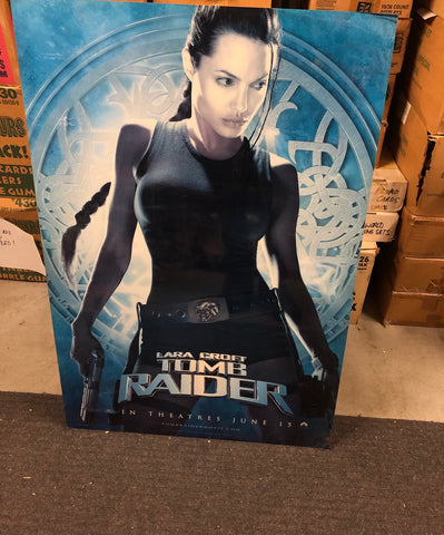 Tomb Raider movie rare large glossy poster