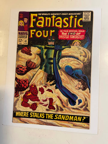 Fantastic Four #61 comic book 1967
