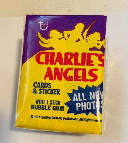 Charlie's Angels Topps series 3 cards and stickers set with wrapper 1977