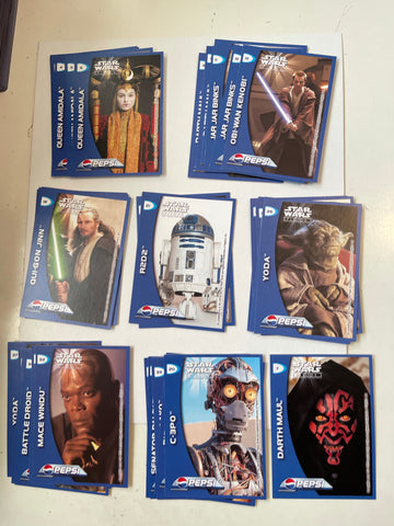 Star Wars Episode 1 rare Pepsi card set limited issue only in Germany 1999
