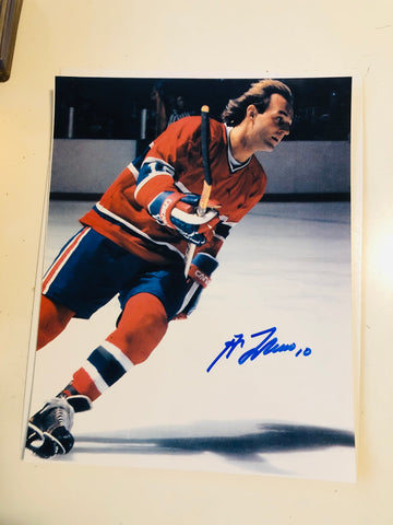 Guy LaFleur autograph 8x10 photo with COA