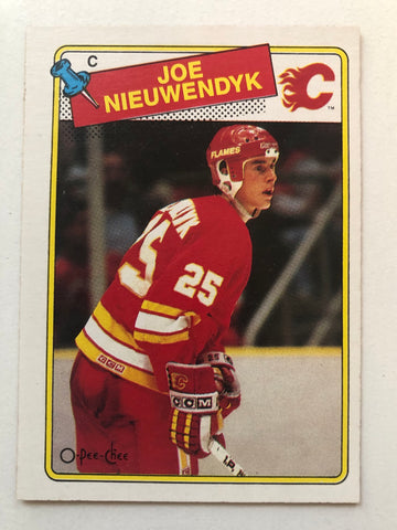 Joe Nieuwendyk opc hockey rookie card 1988