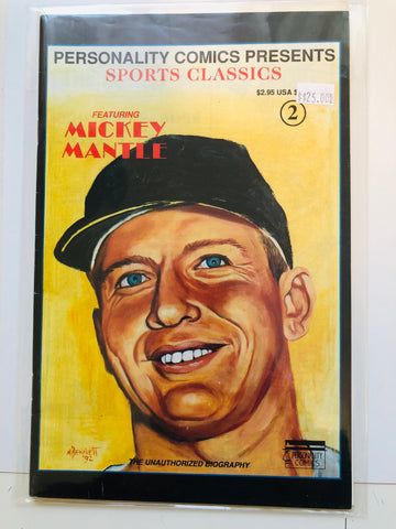 Mickey Mantle limited issue comic book 1990s