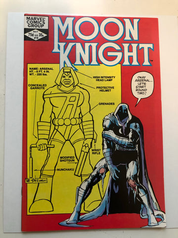 Moon Knight #19 high grade comic book