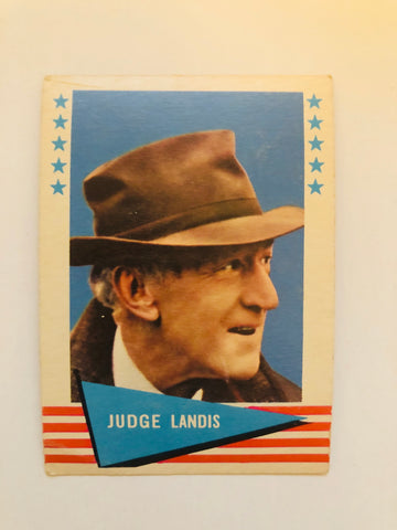 1961 Fleer Judge Landis rare baseball card