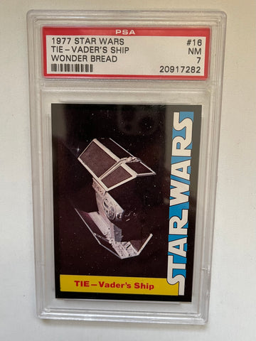 Star Wars Wonder bread Darth Vader's ship PSA 7 graded card 1977