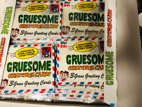 Gruesome Greeting cards 36 packs box 1992