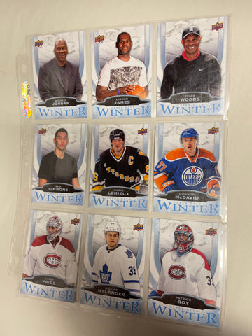 Upper Deck Winter 10 cards Gretzky, Jordan and more preview set 2016