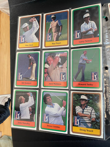 PGA Golf rare high grade first series complete cards set in pages 1981
