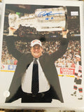 Pat Burns hockey coach rare signed photo with COA