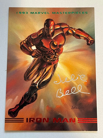 Marvel Masterpieces Iron Man Julie Bell artist autograph card with COA