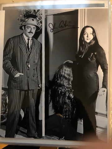 Addams Family TV show rare John Astin signed photo with Fanexpo COA