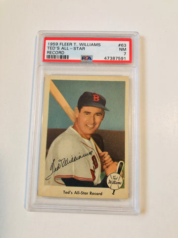 Ted Williams PSA 7 baseball card #63 from 1959