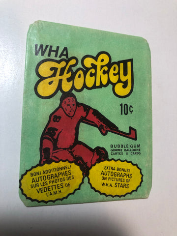 WHA hockey cards rare wrapper 1974-75