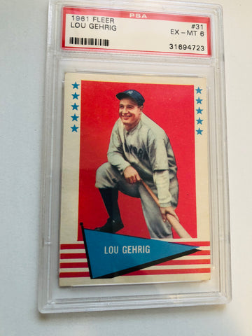 1961 Fleer Lou Gehrig PSA 6 Baseball card