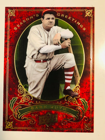 Babe Ruth upper Deck rare large baseball Christmas card 2007