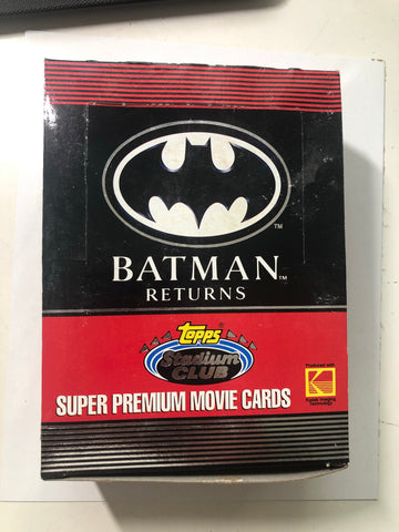 1991 Topps Stadium Club Batman Returns movie cards 36 packs box