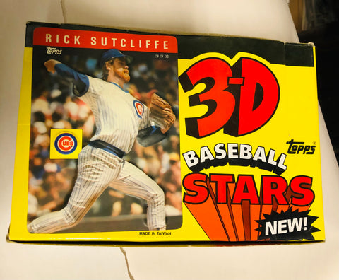 1985 Topps baseball 3-D large cards 24 packs box