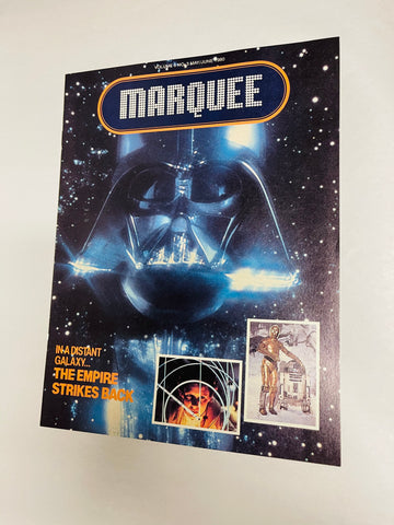Empire Strikes Back Marquee movie magazine first appearance for this movie 1980