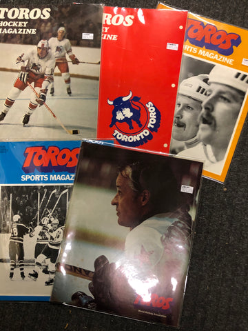 1970s WHA 5 hockey game programs