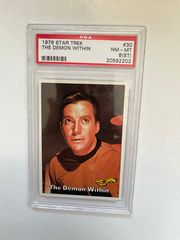 Star Trek Captain Kirk PSA 8 graded Star Trek card 1976