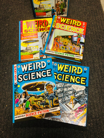 1980 EC comics Weird Science 4 hard cover comic volumes set