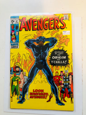 Avengers #87 Black Panther origin comic book 1971