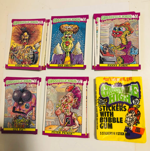 Grossville High complete cards set with wrapper 1986