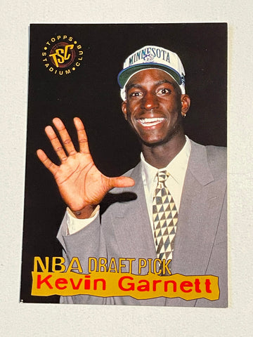 Kevin Garnett Topps Stadium Club basketball rookie card 1995
