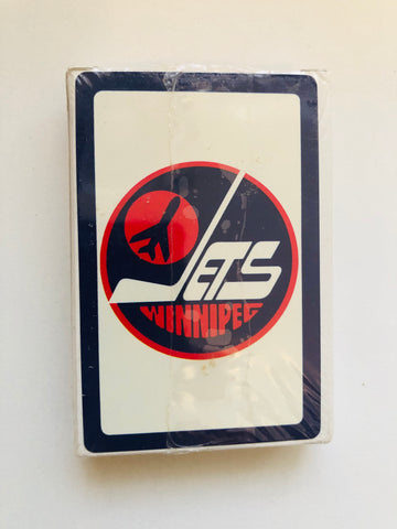 Winnipeg Jets hockey factory sealed playing cards deck 1980s