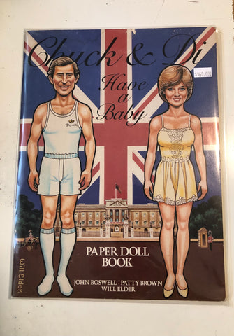 Chuck and Di Paper Doll cut out book 1982