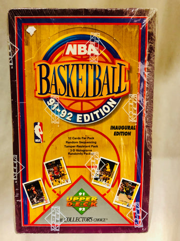 1991 Upper Deck Basketball first year cards 36 packs factory sealed box