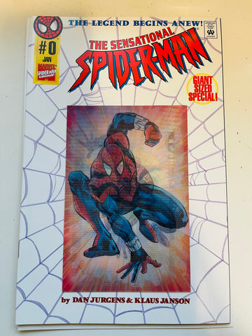 Spider-Man sensational giant size 0 hologram cover comic 1996