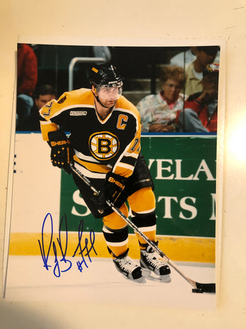 Ray Bourque hockey autograph 8x10 photo with COA