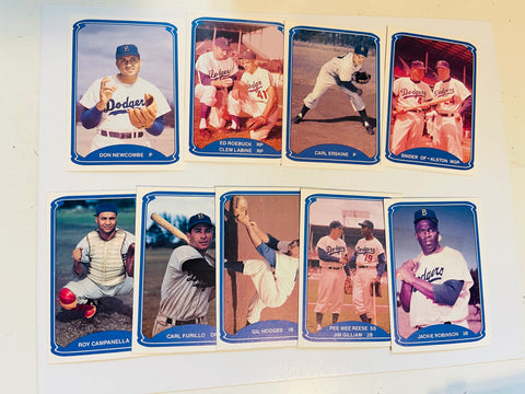 1955 Brooklyn Dodgers baseball card team set TCMA 1987