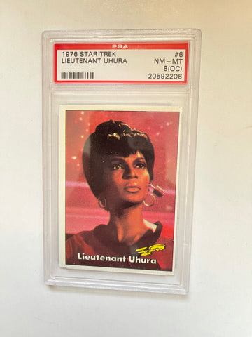 Star Trek Lt Uhura PSA 8 high grade Card 1976