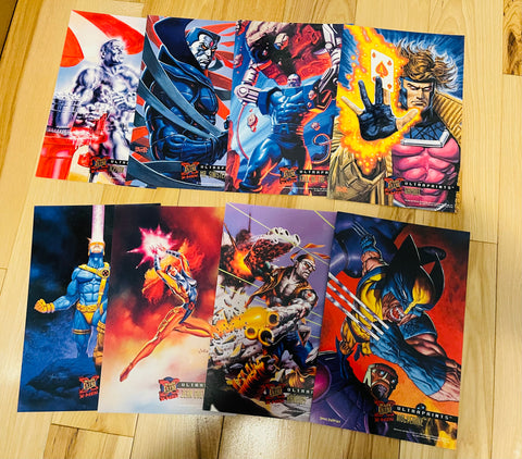 X-Men Fleer Ultraprint comic cards 8x10 set 1994