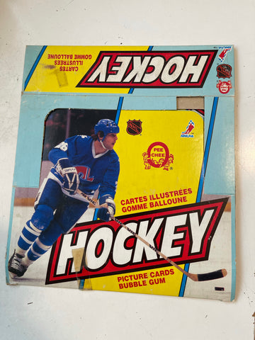 1983 opc hockey rare empty display box