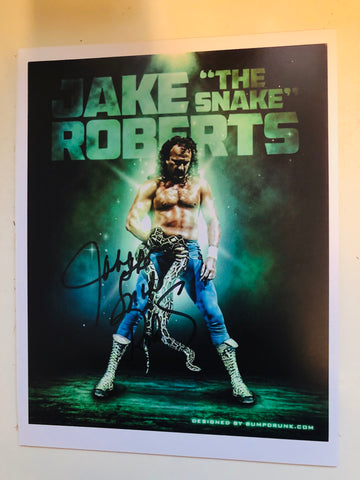 Wrestling Jake the Snake Roberts legend signed in person autograph with COA