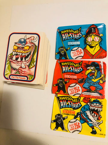 Baseball Awesome All-Stars complete cards set 1988