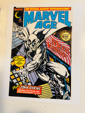 Marvel Age #74 Moon Knight cover comic book 1983