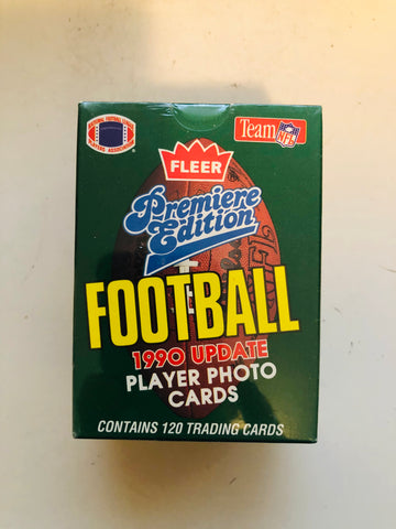 1990 Fleer Football factory Emmitt Smith rookie update cards set