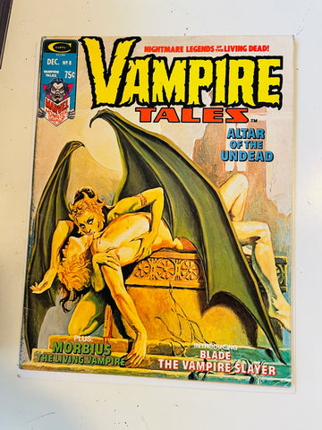 Vampire Tales #8 first Solo Blade story comic magazine 1974