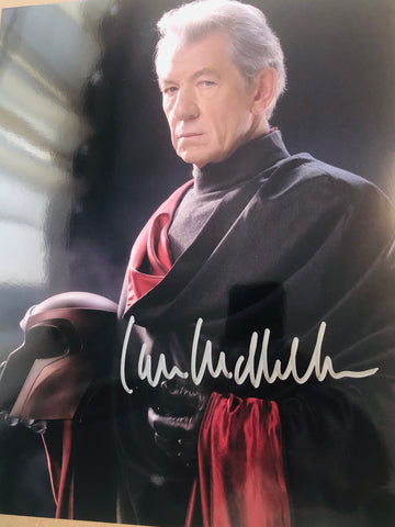 X-Men movie Ian McKellen rare autograph photo with COA