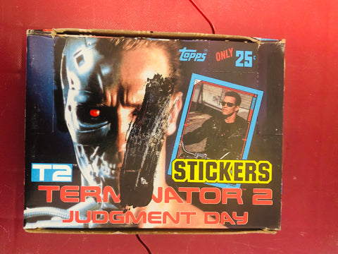 Terminator 2 Judgement day stickers 48 packs box 1991