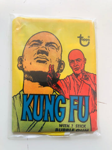 Kung Fu TV show cards sealed pack 1974