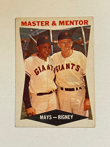 Willie Mays Topps Master and Mentor baseball card 1960