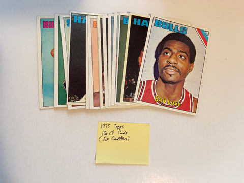 1975 Topps basketball 16 count commons and semi stars lot deal