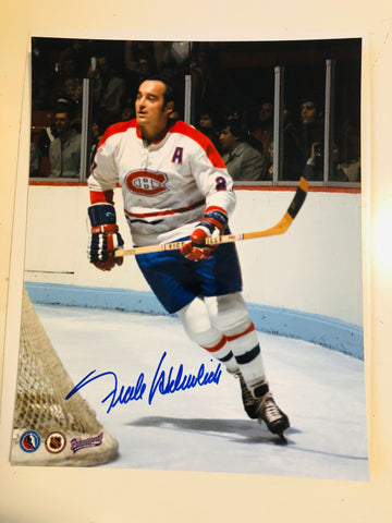 Montreal Canadiens Frank Mahovlich rare autograph photo with COA