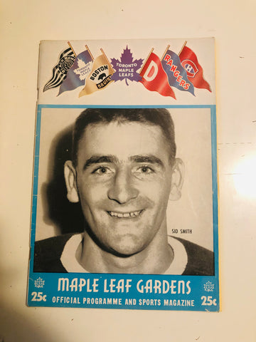 Toronto Maple Leafs hockey game program Mar.19,1955